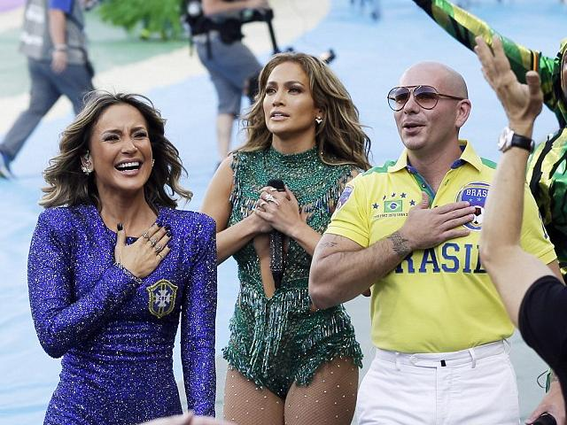 2014 FIFA World Cup Brazil Opening Ceremony Claudia Leitte, Jennifer Lopez and Pitbull - The Brazilian pop star Claudia Leitte, the American singer Jennifer Lopez and the Cuban-American rapper Pitbull, during the Opening ceremony of the 2014 FIFA World Cup, at the Itaquerao Stadium in Sao Paulo, Brazil (June 12, 2014). After the spirited show, the trio greeted the screaming crowds and almost tearful, Jennifer Lopez thanked them as touched her chest with her hand. - , 2014, FIFA, World, Cup, Brazil, Opening, Ceremony, ceremonies, Claudia, Leitte, Jennifer, Lopez, Pitbull, music, celebrities, celebrity, sport, sports, Brazilian, pop, star, stars, American, singer, singers, Cuban, rapper, rappers, Itaquerao, Stadium, stadiums, Sao, Paulo, June, spirited, show, trio, crowds, crowd, tearful, chest, hand, hands - The Brazilian pop star Claudia Leitte, the American singer Jennifer Lopez and the Cuban-American rapper Pitbull, during the Opening ceremony of the 2014 FIFA World Cup, at the Itaquerao Stadium in Sao Paulo, Brazil (June 12, 2014). After the spirited show, the trio greeted the screaming crowds and almost tearful, Jennifer Lopez thanked them as touched her chest with her hand. Resuelve rompecabezas en línea gratis 2014 FIFA World Cup Brazil Opening Ceremony Claudia Leitte, Jennifer Lopez and Pitbull juegos puzzle o enviar 2014 FIFA World Cup Brazil Opening Ceremony Claudia Leitte, Jennifer Lopez and Pitbull juego de puzzle tarjetas electrónicas de felicitación  de puzzles-games.eu.. 2014 FIFA World Cup Brazil Opening Ceremony Claudia Leitte, Jennifer Lopez and Pitbull puzzle, puzzles, rompecabezas juegos, puzzles-games.eu, juegos de puzzle, juegos en línea del rompecabezas, juegos gratis puzzle, juegos en línea gratis rompecabezas, 2014 FIFA World Cup Brazil Opening Ceremony Claudia Leitte, Jennifer Lopez and Pitbull juego de puzzle gratuito, 2014 FIFA World Cup Brazil Opening Ceremony Claudia Leitte, Jennifer Lopez and Pitbull juego de rompecabezas en línea, jigsaw puzzles, 2014 FIFA World Cup Brazil Opening Ceremony Claudia Leitte, Jennifer Lopez and Pitbull jigsaw puzzle, jigsaw puzzle games, jigsaw puzzles games, 2014 FIFA World Cup Brazil Opening Ceremony Claudia Leitte, Jennifer Lopez and Pitbull rompecabezas de juego tarjeta electrónica, juegos de puzzles tarjetas electrónicas, 2014 FIFA World Cup Brazil Opening Ceremony Claudia Leitte, Jennifer Lopez and Pitbull puzzle tarjeta electrónica de felicitación