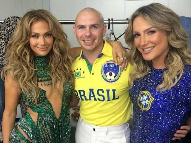 2014 FIFA World Cup Brazil Pitbull with Jennifer Lopez and Claudia Leitte behind the Scenes - Photo behind the scenes of the Cuban-American rapper Pitbull with the American singer Jennifer Lopez and the Brazilian pop star Claudia Leitte, after the spirited performance during the Opening ceremony of the 2014 FIFA World Cup, at the Itaquerao Stadium in Sao Paulo, Brazil (June 12, 2014). With the official song 'We Are One (Ole Ola)', the trio gave a colorful start at the opening ceremony of the 2014 FIFA World Cup in Brazil. - , 2014, FIFA, World, Cup, Brazil, Pitbull, Jennifer, Lopez, Claudia, Leitte, scenes, scene, music, celebrities, celebrity, sport, sports, Cuban, American, rapper, rappers, Pitbull, singer, singers, Jennifer, Lopez, Brazilian, pop, star, stars, Claudia, Leitte, spirited, performance, performances, Opening, ceremony, ceremonies, Itaquerao, Stadium, stadiums, Sao, Paulo, June, official, song, songs, Ole, Ola, trio, colorful, start, starts - Photo behind the scenes of the Cuban-American rapper Pitbull with the American singer Jennifer Lopez and the Brazilian pop star Claudia Leitte, after the spirited performance during the Opening ceremony of the 2014 FIFA World Cup, at the Itaquerao Stadium in Sao Paulo, Brazil (June 12, 2014). With the official song 'We Are One (Ole Ola)', the trio gave a colorful start at the opening ceremony of the 2014 FIFA World Cup in Brazil. Solve free online 2014 FIFA World Cup Brazil Pitbull with Jennifer Lopez and Claudia Leitte behind the Scenes puzzle games or send 2014 FIFA World Cup Brazil Pitbull with Jennifer Lopez and Claudia Leitte behind the Scenes puzzle game greeting ecards  from puzzles-games.eu.. 2014 FIFA World Cup Brazil Pitbull with Jennifer Lopez and Claudia Leitte behind the Scenes puzzle, puzzles, puzzles games, puzzles-games.eu, puzzle games, online puzzle games, free puzzle games, free online puzzle games, 2014 FIFA World Cup Brazil Pitbull with Jennifer Lopez and Claudia Leitte behind the Scenes free puzzle game, 2014 FIFA World Cup Brazil Pitbull with Jennifer Lopez and Claudia Leitte behind the Scenes online puzzle game, jigsaw puzzles, 2014 FIFA World Cup Brazil Pitbull with Jennifer Lopez and Claudia Leitte behind the Scenes jigsaw puzzle, jigsaw puzzle games, jigsaw puzzles games, 2014 FIFA World Cup Brazil Pitbull with Jennifer Lopez and Claudia Leitte behind the Scenes puzzle game ecard, puzzles games ecards, 2014 FIFA World Cup Brazil Pitbull with Jennifer Lopez and Claudia Leitte behind the Scenes puzzle game greeting ecard