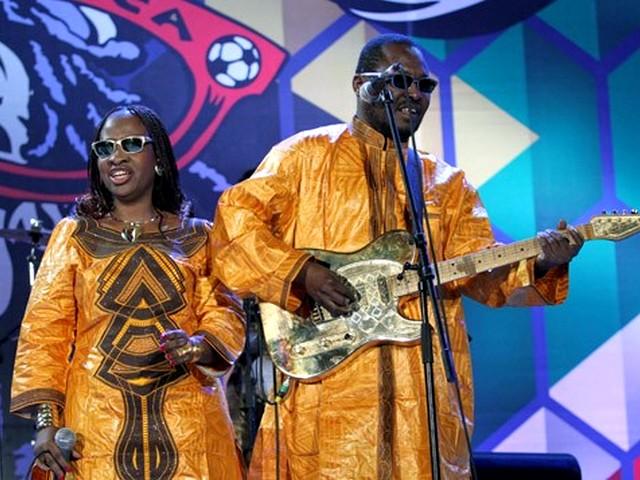 World Cup 2010 Kick-off Concert Amadon and Mariam - Malian singers Amadon and Mariam perform on stage during the Kick-off celebration concert of the FIFA World Cup 2010 at the Orlando stadium in Soweto, Johannesburg, South Africa (June 10, 2010). - , World, Cup, 2010, Kick-off, Concert, Amadon, Mariam, music, musics, performance, performances, party, parties, show, shows, celebration, celebrations, sport, sports, tournament, tournaments, FIFA, Orlando, stadium, stadiums, Soweto, Johannesburg, South, Africa - Malian singers Amadon and Mariam perform on stage during the Kick-off celebration concert of the FIFA World Cup 2010 at the Orlando stadium in Soweto, Johannesburg, South Africa (June 10, 2010). Solve free online World Cup 2010 Kick-off Concert Amadon and Mariam puzzle games or send World Cup 2010 Kick-off Concert Amadon and Mariam puzzle game greeting ecards  from puzzles-games.eu.. World Cup 2010 Kick-off Concert Amadon and Mariam puzzle, puzzles, puzzles games, puzzles-games.eu, puzzle games, online puzzle games, free puzzle games, free online puzzle games, World Cup 2010 Kick-off Concert Amadon and Mariam free puzzle game, World Cup 2010 Kick-off Concert Amadon and Mariam online puzzle game, jigsaw puzzles, World Cup 2010 Kick-off Concert Amadon and Mariam jigsaw puzzle, jigsaw puzzle games, jigsaw puzzles games, World Cup 2010 Kick-off Concert Amadon and Mariam puzzle game ecard, puzzles games ecards, World Cup 2010 Kick-off Concert Amadon and Mariam puzzle game greeting ecard