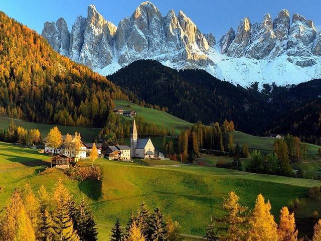 Autumn Landscape St. Magdalena Village South Tyrol Italy - Fantastic natural landscape in the autumn afternoon from the St. Magdalena village in the Val di Funes Valley (Villnoesstal) in South Tyrol, Italy, situated at the foot of the Odle/Geisler mountain massif. The Odle/Geisler group is limestone mountain range with steep cliffs, pinnacles and ravines, which form part of the Alps, known for the beautiful Dolomites peaks, a paradise for mountain lovers in the heart of the Puez-Odle Nature Park. - , autumn, landscape, landscapes, St., Magdalena, village, villages, South, Tyrol, Italy, nature, natures, place, places, fantastic, natural, afternoon, Val, di, Funes, valley, valleys, Villnoesstal, foot, Odle, Geisler, mountain, mountains, massif, group, groups, limestone, range, ranges, steep, cliffs, cliff, pinnacles, pinnacle, ravines, ravine, part, parts, Alps, beautiful, Dolomites, peaks, peak, paradise, lovers, heart, hearts, Puez, park, parks - Fantastic natural landscape in the autumn afternoon from the St. Magdalena village in the Val di Funes Valley (Villnoesstal) in South Tyrol, Italy, situated at the foot of the Odle/Geisler mountain massif. The Odle/Geisler group is limestone mountain range with steep cliffs, pinnacles and ravines, which form part of the Alps, known for the beautiful Dolomites peaks, a paradise for mountain lovers in the heart of the Puez-Odle Nature Park. Solve free online Autumn Landscape St. Magdalena Village South Tyrol Italy puzzle games or send Autumn Landscape St. Magdalena Village South Tyrol Italy puzzle game greeting ecards  from puzzles-games.eu.. Autumn Landscape St. Magdalena Village South Tyrol Italy puzzle, puzzles, puzzles games, puzzles-games.eu, puzzle games, online puzzle games, free puzzle games, free online puzzle games, Autumn Landscape St. Magdalena Village South Tyrol Italy free puzzle game, Autumn Landscape St. Magdalena Village South Tyrol Italy online puzzle game, jigsaw puzzles, Autumn Landscape St. Magdalena Village South Tyrol Italy jigsaw puzzle, jigsaw puzzle games, jigsaw puzzles games, Autumn Landscape St. Magdalena Village South Tyrol Italy puzzle game ecard, puzzles games ecards, Autumn Landscape St. Magdalena Village South Tyrol Italy puzzle game greeting ecard