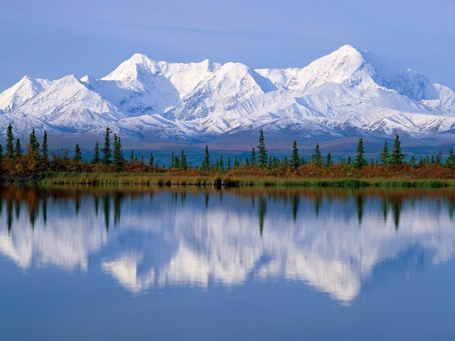 Mount McKinley reflected in Wonder Lake Denali National Park Alaska - Magnificent view of a majestic Mount McKinley (6,168 m), the highest mountain peak in North America, reflected in Wonder Lake, located in Denali National Park, Alaska. The Wonder Lake was created by retreating glaciers and when weather permits, offers visitors stunning views to the pristine nature of the Alaska Range. - , Mount, McKinley, Wonder, Lake, Denali, National, Park, Alaska, nature, natures, magnificent, view, views, majestic, mountain, mountains, peak, peaks, North, America, glaciers, glacier, weather, visitors, visitor, pristine, range, ranges - Magnificent view of a majestic Mount McKinley (6,168 m), the highest mountain peak in North America, reflected in Wonder Lake, located in Denali National Park, Alaska. The Wonder Lake was created by retreating glaciers and when weather permits, offers visitors stunning views to the pristine nature of the Alaska Range. Solve free online Mount McKinley reflected in Wonder Lake Denali National Park Alaska puzzle games or send Mount McKinley reflected in Wonder Lake Denali National Park Alaska puzzle game greeting ecards  from puzzles-games.eu.. Mount McKinley reflected in Wonder Lake Denali National Park Alaska puzzle, puzzles, puzzles games, puzzles-games.eu, puzzle games, online puzzle games, free puzzle games, free online puzzle games, Mount McKinley reflected in Wonder Lake Denali National Park Alaska free puzzle game, Mount McKinley reflected in Wonder Lake Denali National Park Alaska online puzzle game, jigsaw puzzles, Mount McKinley reflected in Wonder Lake Denali National Park Alaska jigsaw puzzle, jigsaw puzzle games, jigsaw puzzles games, Mount McKinley reflected in Wonder Lake Denali National Park Alaska puzzle game ecard, puzzles games ecards, Mount McKinley reflected in Wonder Lake Denali National Park Alaska puzzle game greeting ecard