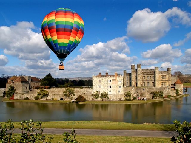 Hot Air Balloon over Leeds Castle Kent England - A flight with a hot air balloon which offers an exhilarating experience over the Leeds castle, one of the most romantic castles in England and the loveliest castle in the world. Leeds Castle is situated at the stunning countryside, set on two islands on the River Len, among 500 acres of beautiful parkland in the heart of Kent, England, 5 miles (8 km) southeast of Maidstone. It was built in 1119 by Henry VIII, as a home for Catherine of Aragon. The lake which surrounds the castle was created in 1278, when the castle became the property of King Edward I, to enhance its defences. Now it is open for entertaining guests with its 40 bedrooms, a 100-seater banquet hall, a maze, helipad and golf course, with a butler, chauffeur and chefs. - , hot, air, balloon, ballons, Leeds, castle, castles, Kent, England, places, place, travel, travels, tour, tours, trip, trips, exhilarating, experience, experiences, romantic, loveliest, world, worlds, stunning, countryside, countrysides, islands, island, river, rivers, Len, acres, acre, beautiful, parkland, parklands, heart, hearts, southeast, Maidstone, 1119, HenryVIII, home, homes, Catherine, Aragon, lake, lakes, 1278, property, properties, King, Edward, defences, defence, entertaining, guests, guest, bedrooms, bedroom, banquet, hall, halls, maze, mazes, helipad, helipads, golf, course, courses, butler, butlers, chauffeur, chauffeurs, chefs, chef - A flight with a hot air balloon which offers an exhilarating experience over the Leeds castle, one of the most romantic castles in England and the loveliest castle in the world. Leeds Castle is situated at the stunning countryside, set on two islands on the River Len, among 500 acres of beautiful parkland in the heart of Kent, England, 5 miles (8 km) southeast of Maidstone. It was built in 1119 by Henry VIII, as a home for Catherine of Aragon. The lake which surrounds the castle was created in 1278, when the castle became the property of King Edward I, to enhance its defences. Now it is open for entertaining guests with its 40 bedrooms, a 100-seater banquet hall, a maze, helipad and golf course, with a butler, chauffeur and chefs. Solve free online Hot Air Balloon over Leeds Castle Kent England puzzle games or send Hot Air Balloon over Leeds Castle Kent England puzzle game greeting ecards  from puzzles-games.eu.. Hot Air Balloon over Leeds Castle Kent England puzzle, puzzles, puzzles games, puzzles-games.eu, puzzle games, online puzzle games, free puzzle games, free online puzzle games, Hot Air Balloon over Leeds Castle Kent England free puzzle game, Hot Air Balloon over Leeds Castle Kent England online puzzle game, jigsaw puzzles, Hot Air Balloon over Leeds Castle Kent England jigsaw puzzle, jigsaw puzzle games, jigsaw puzzles games, Hot Air Balloon over Leeds Castle Kent England puzzle game ecard, puzzles games ecards, Hot Air Balloon over Leeds Castle Kent England puzzle game greeting ecard