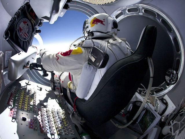 Felix Baumgartner prepares to leave Red Bull Stratos Capsule - The 43-year-old Austrian daredevil, pilot and extreme athlete Felix Baumgartner (born on 20 April 1969 in Salzburg, Austria), prepares to leave the capsule, attached to a helium balloon at approximately 39 km (39,045 meters / 128,100 feet) above the Earth, during his attempt to set a new record for freefall from the edge of space, at the mission of 'Red Bull Stratos' in Roswell, New Mexico, USA on October 14, 2012. - , Felix, Baumgartner, Red, Bull, Stratos, capsule, capsules, spot, sports, Austrian, daredevil, daredevils, pilot, pilots, extreme, athlete, athletes, April, 1969, Salzburg, Austria, helium, balloon, balloons, approximately, km, meters, feet, Earth, attempt, attempts, record, records, freefall, freefalls, edge, space, mission, missions, Roswell, New, Mexico, USA, October, 2012. - The 43-year-old Austrian daredevil, pilot and extreme athlete Felix Baumgartner (born on 20 April 1969 in Salzburg, Austria), prepares to leave the capsule, attached to a helium balloon at approximately 39 km (39,045 meters / 128,100 feet) above the Earth, during his attempt to set a new record for freefall from the edge of space, at the mission of 'Red Bull Stratos' in Roswell, New Mexico, USA on October 14, 2012. Solve free online Felix Baumgartner prepares to leave Red Bull Stratos Capsule puzzle games or send Felix Baumgartner prepares to leave Red Bull Stratos Capsule puzzle game greeting ecards  from puzzles-games.eu.. Felix Baumgartner prepares to leave Red Bull Stratos Capsule puzzle, puzzles, puzzles games, puzzles-games.eu, puzzle games, online puzzle games, free puzzle games, free online puzzle games, Felix Baumgartner prepares to leave Red Bull Stratos Capsule free puzzle game, Felix Baumgartner prepares to leave Red Bull Stratos Capsule online puzzle game, jigsaw puzzles, Felix Baumgartner prepares to leave Red Bull Stratos Capsule jigsaw puzzle, jigsaw puzzle games, jigsaw puzzles games, Felix Baumgartner prepares to leave Red Bull Stratos Capsule puzzle game ecard, puzzles games ecards, Felix Baumgartner prepares to leave Red Bull Stratos Capsule puzzle game greeting ecard