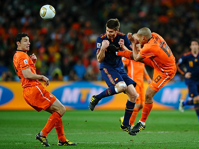 World Cup 2010 Champion Nigel De Jong tackles Xabi Alonso - The Netherlands' Nigel De Jong tackles Spain's Xabi Alonso during the FIFA World Cup 2010 Champion final match at the Soccer City stadium in Johannesburg, South Africa (July 11, 2010). - , World, Cup, 2010, Champion, Nigel, De, Jong, Xabi, Alonso, sport, sports, tournament, tournaments, match, matches, soccer, soccers, football, footballs, Netherlands, Spain, FIFA, final, Soccer, City, stadium, stadiums, Johannesburg, South, Africa - The Netherlands' Nigel De Jong tackles Spain's Xabi Alonso during the FIFA World Cup 2010 Champion final match at the Soccer City stadium in Johannesburg, South Africa (July 11, 2010). Solve free online World Cup 2010 Champion Nigel De Jong tackles Xabi Alonso puzzle games or send World Cup 2010 Champion Nigel De Jong tackles Xabi Alonso puzzle game greeting ecards  from puzzles-games.eu.. World Cup 2010 Champion Nigel De Jong tackles Xabi Alonso puzzle, puzzles, puzzles games, puzzles-games.eu, puzzle games, online puzzle games, free puzzle games, free online puzzle games, World Cup 2010 Champion Nigel De Jong tackles Xabi Alonso free puzzle game, World Cup 2010 Champion Nigel De Jong tackles Xabi Alonso online puzzle game, jigsaw puzzles, World Cup 2010 Champion Nigel De Jong tackles Xabi Alonso jigsaw puzzle, jigsaw puzzle games, jigsaw puzzles games, World Cup 2010 Champion Nigel De Jong tackles Xabi Alonso puzzle game ecard, puzzles games ecards, World Cup 2010 Champion Nigel De Jong tackles Xabi Alonso puzzle game greeting ecard