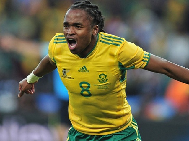 World Cup 2010 Siphiwe Tshabalala - The midfielder Siphiwe Tshabalala of South Africa celebrates scoring the first goal of the FIFA World Cup 2010 at the Soccer City stadium in Johannesburg (June 11). - , World, Cup, 2010, Siphiwe, Tshabalala, sport, sports, tournament, tournaments, qualification, qualifications, South, Africa, goal, goals, FIFA, Soccer, City, stadium, stadiums, Johannesburg - The midfielder Siphiwe Tshabalala of South Africa celebrates scoring the first goal of the FIFA World Cup 2010 at the Soccer City stadium in Johannesburg (June 11). Solve free online World Cup 2010 Siphiwe Tshabalala puzzle games or send World Cup 2010 Siphiwe Tshabalala puzzle game greeting ecards  from puzzles-games.eu.. World Cup 2010 Siphiwe Tshabalala puzzle, puzzles, puzzles games, puzzles-games.eu, puzzle games, online puzzle games, free puzzle games, free online puzzle games, World Cup 2010 Siphiwe Tshabalala free puzzle game, World Cup 2010 Siphiwe Tshabalala online puzzle game, jigsaw puzzles, World Cup 2010 Siphiwe Tshabalala jigsaw puzzle, jigsaw puzzle games, jigsaw puzzles games, World Cup 2010 Siphiwe Tshabalala puzzle game ecard, puzzles games ecards, World Cup 2010 Siphiwe Tshabalala puzzle game greeting ecard