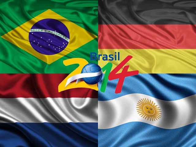 2014 FIFA World Cup Brazil Teams qualified in Semifinals - The teams have qualified in the semifinals of the 2014 FIFA World Cup are Brazil and Germany, The Netherlands and Argentina. <br /> Brazil came in the semi-finals of the World Cup for the first time in 12 years by beating Colombia 2-1, with the goals from the defenders Thiago Silva and David Luiz.<br /> Germany win over France 1-0 with, after the defender Mats Hummels scored in a free kick after 13 minutes.<br /> The Dutch team beat the team of Costa Rica 4-3 on penalties after the regular time and the overtime. The goalkeeper of Newcastle Tim Krul managed to save two penalties from Costa Rica's Bryan Ruiz, and ranked the team in the semifinals. <br /> Argentina beat Belgium 1-0, the only goal scored by the striker Gonzalo Higuain in the eighth minute of the match. - , 2014, FIFA, World, Cup, Brazil, teams, team, qualified, semifinals, cartoons, cartoon, sport, sports, Brazil, Germany, Netherlands, Argentina, Colombia, goals, goal, defender, defenders, Thiago, Silva, David, Luiz, France, Mats, Hummels, free, kick, Dutch, team, teams, Costa, Rica, penalties, penalty, Bryan, Ruiz, Belgium, striker, strikers, Gonzalo, Higuain, minute, minutes, match - The teams have qualified in the semifinals of the 2014 FIFA World Cup are Brazil and Germany, The Netherlands and Argentina. <br /> Brazil came in the semi-finals of the World Cup for the first time in 12 years by beating Colombia 2-1, with the goals from the defenders Thiago Silva and David Luiz.<br /> Germany win over France 1-0 with, after the defender Mats Hummels scored in a free kick after 13 minutes.<br /> The Dutch team beat the team of Costa Rica 4-3 on penalties after the regular time and the overtime. The goalkeeper of Newcastle Tim Krul managed to save two penalties from Costa Rica's Bryan Ruiz, and ranked the team in the semifinals. <br /> Argentina beat Belgium 1-0, the only goal scored by the striker Gonzalo Higuain in the eighth minute of the match. Solve free online 2014 FIFA World Cup Brazil Teams qualified in Semifinals puzzle games or send 2014 FIFA World Cup Brazil Teams qualified in Semifinals puzzle game greeting ecards  from puzzles-games.eu.. 2014 FIFA World Cup Brazil Teams qualified in Semifinals puzzle, puzzles, puzzles games, puzzles-games.eu, puzzle games, online puzzle games, free puzzle games, free online puzzle games, 2014 FIFA World Cup Brazil Teams qualified in Semifinals free puzzle game, 2014 FIFA World Cup Brazil Teams qualified in Semifinals online puzzle game, jigsaw puzzles, 2014 FIFA World Cup Brazil Teams qualified in Semifinals jigsaw puzzle, jigsaw puzzle games, jigsaw puzzles games, 2014 FIFA World Cup Brazil Teams qualified in Semifinals puzzle game ecard, puzzles games ecards, 2014 FIFA World Cup Brazil Teams qualified in Semifinals puzzle game greeting ecard