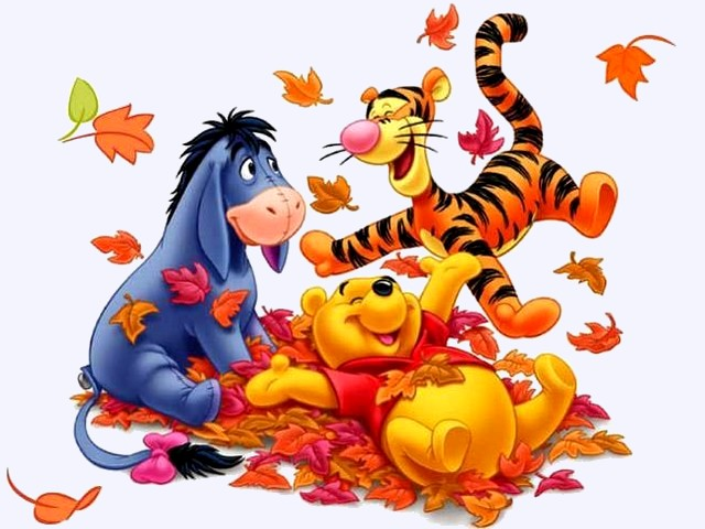 Disney Autumn Winnie The Pooh Eeyore And Tigger Wallpaper