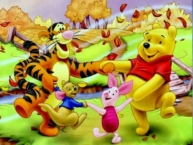86073944d5c5 Disney Autumn Winnie the Pooh and Friends Wallpaper - Wallpaper with Winnie  the Pooh and his
