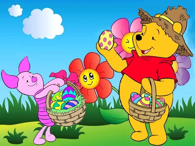 Disney Easter Piglet and Winnie the Pooh Wallpaper  PuzzlesGames