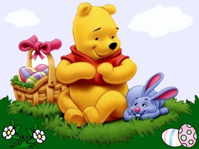 Disney Easter Winnie the Pooh and Bunny Wallpaper - A festive wallpaper for the Easter with Winnie the Pooh and Bunny, adorable and beloved cartoon characters, created by Walt Disney, which rejoice the basket full of colored eggs at the sunny day. - , Disney, Easter, Winnie, Pooh, Bunny, wallpaper, wallpapers, cartoons, cartoon, holiday, holidays, festive, adorable, beloved, characters, character, Walt, Disney, basket, baskets, colored, eggs, egg, sunny, day, days - A festive wallpaper for the Easter with Winnie the Pooh and Bunny, adorable and beloved cartoon characters, created by Walt Disney, which rejoice the basket full of colored eggs at the sunny day. Solve free online Disney Easter Winnie the Pooh and Bunny Wallpaper puzzle games or send Disney Easter Winnie the Pooh and Bunny Wallpaper puzzle game greeting ecards  from puzzles-games.eu.. Disney Easter Winnie the Pooh and Bunny Wallpaper puzzle, puzzles, puzzles games, puzzles-games.eu, puzzle games, online puzzle games, free puzzle games, free online puzzle games, Disney Easter Winnie the Pooh and Bunny Wallpaper free puzzle game, Disney Easter Winnie the Pooh and Bunny Wallpaper online puzzle game, jigsaw puzzles, Disney Easter Winnie the Pooh and Bunny Wallpaper jigsaw puzzle, jigsaw puzzle games, jigsaw puzzles games, Disney Easter Winnie the Pooh and Bunny Wallpaper puzzle game ecard, puzzles games ecards, Disney Easter Winnie the Pooh and Bunny Wallpaper puzzle game greeting ecard