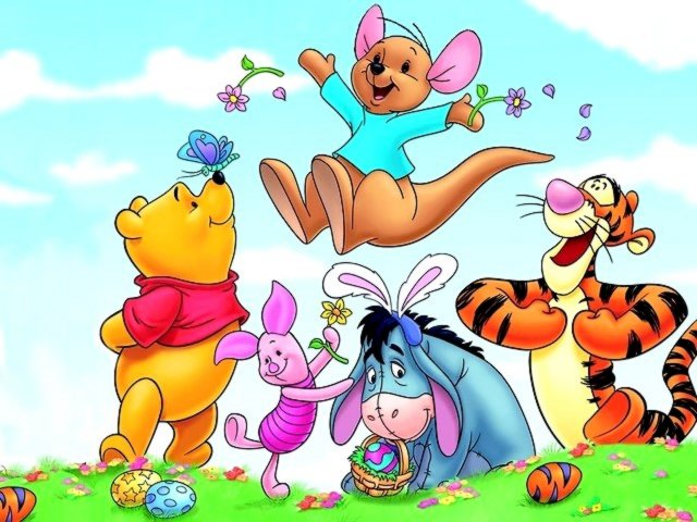 3fcfe0562c5b Disney Easter Winnie the Pooh and Friends Wallpaper - Wallpaper with Winnie  the Pooh and his