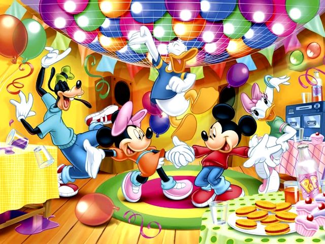 Disney Mickey Mouse with Friends at Birthday Party Wallpaper - Wallpaper of Mickey Mouse with his friends, Minnie Mouse, Goofy, Daisy and Donald Duck, the lovely American animated characters created by Walt Disney, which have fun at a birthday party. - , Disney, Mickey, Mouse, friends, friend, birthday, birthdays, party, parties, wallpaper, wallpapers, cartoon, cartoons, movie, movies, film, films, serie, series, picture, pictures, place, places, Minnie, Mouse, Goofy, Daisy, Donald, Duck, lovely, American, animated, characters, character, Walt, fun - Wallpaper of Mickey Mouse with his friends, Minnie Mouse, Goofy, Daisy and Donald Duck, the lovely American animated characters created by Walt Disney, which have fun at a birthday party. Solve free online Disney Mickey Mouse with Friends at Birthday Party Wallpaper puzzle games or send Disney Mickey Mouse with Friends at Birthday Party Wallpaper puzzle game greeting ecards  from puzzles-games.eu.. Disney Mickey Mouse with Friends at Birthday Party Wallpaper puzzle, puzzles, puzzles games, puzzles-games.eu, puzzle games, online puzzle games, free puzzle games, free online puzzle games, Disney Mickey Mouse with Friends at Birthday Party Wallpaper free puzzle game, Disney Mickey Mouse with Friends at Birthday Party Wallpaper online puzzle game, jigsaw puzzles, Disney Mickey Mouse with Friends at Birthday Party Wallpaper jigsaw puzzle, jigsaw puzzle games, jigsaw puzzles games, Disney Mickey Mouse with Friends at Birthday Party Wallpaper puzzle game ecard, puzzles games ecards, Disney Mickey Mouse with Friends at Birthday Party Wallpaper puzzle game greeting ecard