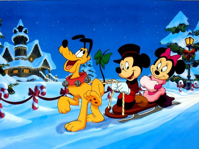 Disney Spirit of Christmas - Wonderful picture from 'Mickey's Once Upon a Christmas' starring Pluto which pulls sleigh with Mickey and Minnie Mouse, the most outstanding cartoon characters made by Walt Disney. This animated anthology film was produced in 1999 and showcases three stories about the spirit of Christmas, reminding us about the love and compassion that lie at the heart of the holiday season. - , Disney, spirit, spirits, Christmas, cartoon, cartoons, holidays, holiday, wonderful, picture, pictures, Mickey, Pluto, sleigh, sleighs, Minnie, Mouse, outstanding, cartoon, cartoons, characters, character, Walt, animated, anthology, film, films, 1999, stories, story, love, compassion, heart, hearts, season, seasons - Wonderful picture from 'Mickey's Once Upon a Christmas' starring Pluto which pulls sleigh with Mickey and Minnie Mouse, the most outstanding cartoon characters made by Walt Disney. This animated anthology film was produced in 1999 and showcases three stories about the spirit of Christmas, reminding us about the love and compassion that lie at the heart of the holiday season. Solve free online Disney Spirit of Christmas puzzle games or send Disney Spirit of Christmas puzzle game greeting ecards  from puzzles-games.eu.. Disney Spirit of Christmas puzzle, puzzles, puzzles games, puzzles-games.eu, puzzle games, online puzzle games, free puzzle games, free online puzzle games, Disney Spirit of Christmas free puzzle game, Disney Spirit of Christmas online puzzle game, jigsaw puzzles, Disney Spirit of Christmas jigsaw puzzle, jigsaw puzzle games, jigsaw puzzles games, Disney Spirit of Christmas puzzle game ecard, puzzles games ecards, Disney Spirit of Christmas puzzle game greeting ecard