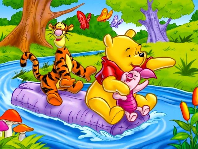 Disney Summer Winnie the Pooh and Friends Downstream the River Wallpaper - Wallpaper with Winnie the Pooh and his friends Piglet and Tiger, the lovely animated heroes created by Walt Disney, which are sitting on a stump, float downstream the river at a sunny summer day. - , Disney, summer, summers, Winnie, Pooh, friends, friend, downstream, river, rivers, wallpaper, wallpapers, cartoon, cartoons, nature, natures, place, places, holidays, holiday, season, seasons, vacation, vacations, lovely, animated, heroes, hero, Walt, stump, stumps, sunny, day, days - Wallpaper with Winnie the Pooh and his friends Piglet and Tiger, the lovely animated heroes created by Walt Disney, which are sitting on a stump, float downstream the river at a sunny summer day. Solve free online Disney Summer Winnie the Pooh and Friends Downstream the River Wallpaper puzzle games or send Disney Summer Winnie the Pooh and Friends Downstream the River Wallpaper puzzle game greeting ecards  from puzzles-games.eu.. Disney Summer Winnie the Pooh and Friends Downstream the River Wallpaper puzzle, puzzles, puzzles games, puzzles-games.eu, puzzle games, online puzzle games, free puzzle games, free online puzzle games, Disney Summer Winnie the Pooh and Friends Downstream the River Wallpaper free puzzle game, Disney Summer Winnie the Pooh and Friends Downstream the River Wallpaper online puzzle game, jigsaw puzzles, Disney Summer Winnie the Pooh and Friends Downstream the River Wallpaper jigsaw puzzle, jigsaw puzzle games, jigsaw puzzles games, Disney Summer Winnie the Pooh and Friends Downstream the River Wallpaper puzzle game ecard, puzzles games ecards, Disney Summer Winnie the Pooh and Friends Downstream the River Wallpaper puzzle game greeting ecard