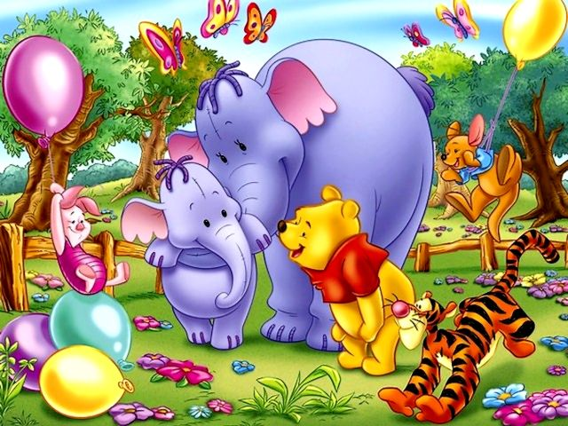 wallpaper cartoon pooh. Winnie the Pooh and Dumbo