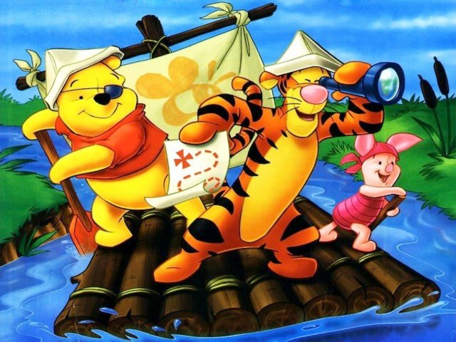Disney Summertime Winnie the Pooh with Friends Pirates Wallpaper - Wallpaper of the amusing animated heroes by Walt Disney, Winnie the Pooh with his friends Tiger and Piglet, which are enjoying the summertime and as pirates are sailing downstream the river looking for the treasure. - , Disney, summertime, Winnie, Pooh, friends, friend, pirates, pirate, wallpaper, wallpapers, cartoon, cartoons, nature, natures, place, places, holidays, holiday, season, seasons, vacation, vacations, amusing, animated, heroes, hero, Walt, Tiger, tigers, Piglet, piglets, downstream, downstreams, river, rivers, treasure, treasures - Wallpaper of the amusing animated heroes by Walt Disney, Winnie the Pooh with his friends Tiger and Piglet, which are enjoying the summertime and as pirates are sailing downstream the river looking for the treasure. Solve free online Disney Summertime Winnie the Pooh with Friends Pirates Wallpaper puzzle games or send Disney Summertime Winnie the Pooh with Friends Pirates Wallpaper puzzle game greeting ecards  from puzzles-games.eu.. Disney Summertime Winnie the Pooh with Friends Pirates Wallpaper puzzle, puzzles, puzzles games, puzzles-games.eu, puzzle games, online puzzle games, free puzzle games, free online puzzle games, Disney Summertime Winnie the Pooh with Friends Pirates Wallpaper free puzzle game, Disney Summertime Winnie the Pooh with Friends Pirates Wallpaper online puzzle game, jigsaw puzzles, Disney Summertime Winnie the Pooh with Friends Pirates Wallpaper jigsaw puzzle, jigsaw puzzle games, jigsaw puzzles games, Disney Summertime Winnie the Pooh with Friends Pirates Wallpaper puzzle game ecard, puzzles games ecards, Disney Summertime Winnie the Pooh with Friends Pirates Wallpaper puzzle game greeting ecard