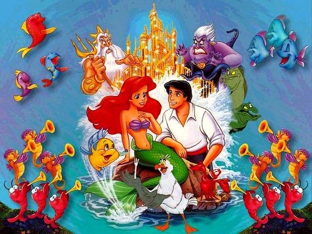 Disney Valentines Day Ariel And Eric Wallpaper Puzzles Games Eu