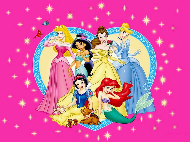 Disney Valentines Day Lovely Princesses Wallpaper   A Beautiful Wallpaper  For Valentineu0027s Day With All The