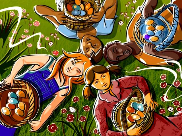Easter Children with Baskets Colored Eggs Wallpaper - Lovely wallpaper for Easter of children with baskets, full of colored eggs. - , Easter, children, child, baskets, basket, colored, eggs, egg, wallpaper, wallpaper, cartoon, cartoons, holiday, holidays, feast, feasts, celebration, celebrations, nature, natures, season, seasons, lovely - Lovely wallpaper for Easter of children with baskets, full of colored eggs. Solve free online Easter Children with Baskets Colored Eggs Wallpaper puzzle games or send Easter Children with Baskets Colored Eggs Wallpaper puzzle game greeting ecards  from puzzles-games.eu.. Easter Children with Baskets Colored Eggs Wallpaper puzzle, puzzles, puzzles games, puzzles-games.eu, puzzle games, online puzzle games, free puzzle games, free online puzzle games, Easter Children with Baskets Colored Eggs Wallpaper free puzzle game, Easter Children with Baskets Colored Eggs Wallpaper online puzzle game, jigsaw puzzles, Easter Children with Baskets Colored Eggs Wallpaper jigsaw puzzle, jigsaw puzzle games, jigsaw puzzles games, Easter Children with Baskets Colored Eggs Wallpaper puzzle game ecard, puzzles games ecards, Easter Children with Baskets Colored Eggs Wallpaper puzzle game greeting ecard