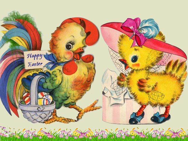 Easter Rooster and Chicken Postcard - Beautiful Easter postcard, depicting adorable rooster carrying basket with dyed eggs and lovely chicken with stunning hat. - , Easter, rooster, roosters, chicken, chickens, postcard, postcards, cartoon, cartoons, holiday, holidays, beautiful, adorable, basket, baskets, dyed, eggs, egg, lovely, stunning, hat, hats - Beautiful Easter postcard, depicting adorable rooster carrying basket with dyed eggs and lovely chicken with stunning hat. Решайте бесплатные онлайн Easter Rooster and Chicken Postcard пазлы игры или отправьте Easter Rooster and Chicken Postcard пазл игру приветственную открытку  из puzzles-games.eu.. Easter Rooster and Chicken Postcard пазл, пазлы, пазлы игры, puzzles-games.eu, пазл игры, онлайн пазл игры, игры пазлы бесплатно, бесплатно онлайн пазл игры, Easter Rooster and Chicken Postcard бесплатно пазл игра, Easter Rooster and Chicken Postcard онлайн пазл игра , jigsaw puzzles, Easter Rooster and Chicken Postcard jigsaw puzzle, jigsaw puzzle games, jigsaw puzzles games, Easter Rooster and Chicken Postcard пазл игра открытка, пазлы игры открытки, Easter Rooster and Chicken Postcard пазл игра приветственная открытка