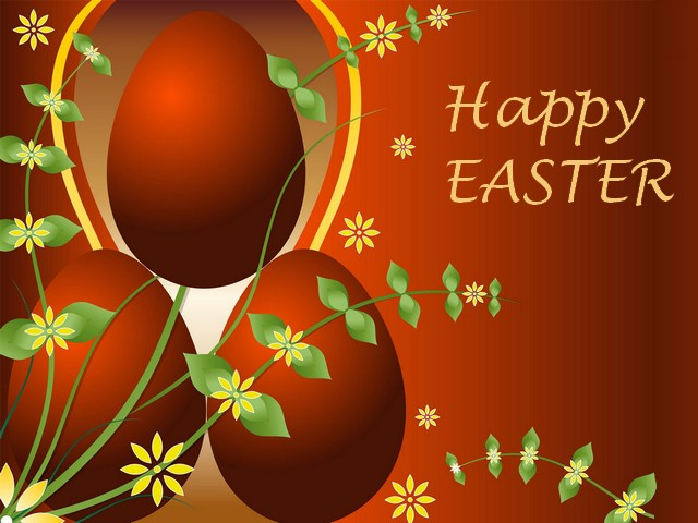 Happy Easter Desktop Wallpaper   Desktop Wallpaper With Beautiful Picture  Of Dyed Easter Eggs, With