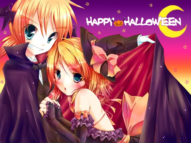 Happy Halloween by Kagamine Len and Kagamine Rin Vocaloid - Happy Halloween by Kagamine Len and Kagamine Rin, characters from Vocaloid2 Vocal Series, a singing synthesizer, developed by Crypton Future Media Ltd., released on December 27, 2007. The 14-year-old Len and his sister Rin are mirror images of twins and virtual singers, and both voiced by the Japanese voice actress Asami Shimoda. - , happy, Halloween, Kagamine, Len, Rin, Vocaloid, cartoon, cartoons, holiday, holidays, music, musics, characters, character, Vocaloid2, vocal, vocals, series, series, singing, synthesizer, synthesizers, Crypton, Future, Media, Ltd., December, 2007, sister, sisters, mirror, images, image, twins, twin, virtual, singers, singer, Japanese, voice, voices, actress, actresses, Asami, Shimoda - Happy Halloween by Kagamine Len and Kagamine Rin, characters from Vocaloid2 Vocal Series, a singing synthesizer, developed by Crypton Future Media Ltd., released on December 27, 2007. The 14-year-old Len and his sister Rin are mirror images of twins and virtual singers, and both voiced by the Japanese voice actress Asami Shimoda. Solve free online Happy Halloween by Kagamine Len and Kagamine Rin Vocaloid puzzle games or send Happy Halloween by Kagamine Len and Kagamine Rin Vocaloid puzzle game greeting ecards  from puzzles-games.eu.. Happy Halloween by Kagamine Len and Kagamine Rin Vocaloid puzzle, puzzles, puzzles games, puzzles-games.eu, puzzle games, online puzzle games, free puzzle games, free online puzzle games, Happy Halloween by Kagamine Len and Kagamine Rin Vocaloid free puzzle game, Happy Halloween by Kagamine Len and Kagamine Rin Vocaloid online puzzle game, jigsaw puzzles, Happy Halloween by Kagamine Len and Kagamine Rin Vocaloid jigsaw puzzle, jigsaw puzzle games, jigsaw puzzles games, Happy Halloween by Kagamine Len and Kagamine Rin Vocaloid puzzle game ecard, puzzles games ecards, Happy Halloween by Kagamine Len and Kagamine Rin Vocaloid puzzle game greeting ecard