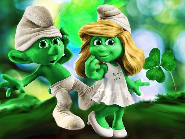 Irish Smurfs Photoshop by Laredog - Picture with funny Irish Smurfs by Laredog from the contest's gallery 'Going Green' by Freaking News, a photoshop image on St. Patrick's theme. In the original comics, the characters of the famous Smurfs family, introduced in 1963 by Pierre Culliford (Peyo), are little blue creatures, which pass through many humorous situations. - , Irish, Smurfs, photoshop, Laredog, cartoon, cartoons, holiday, holidays, St., Saint, Patricks, Patric, Day, days, picture, pictures, funny, contest, contests, gallery, galleries, Going, Green, Freaking, News, image, images, theme, themes, original, comics, characters, character, famous, family, families, 1963, Pierre, Culliford, Peyo, little, blue, creatures, creature, humorous, situations, situation - Picture with funny Irish Smurfs by Laredog from the contest's gallery 'Going Green' by Freaking News, a photoshop image on St. Patrick's theme. In the original comics, the characters of the famous Smurfs family, introduced in 1963 by Pierre Culliford (Peyo), are little blue creatures, which pass through many humorous situations. Solve free online Irish Smurfs Photoshop by Laredog puzzle games or send Irish Smurfs Photoshop by Laredog puzzle game greeting ecards  from puzzles-games.eu.. Irish Smurfs Photoshop by Laredog puzzle, puzzles, puzzles games, puzzles-games.eu, puzzle games, online puzzle games, free puzzle games, free online puzzle games, Irish Smurfs Photoshop by Laredog free puzzle game, Irish Smurfs Photoshop by Laredog online puzzle game, jigsaw puzzles, Irish Smurfs Photoshop by Laredog jigsaw puzzle, jigsaw puzzle games, jigsaw puzzles games, Irish Smurfs Photoshop by Laredog puzzle game ecard, puzzles games ecards, Irish Smurfs Photoshop by Laredog puzzle game greeting ecard