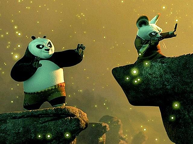 Kung Fu Panda Master Shifu and Kung Fu Panda Po And Shifu
