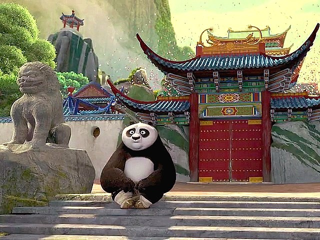 Kung Fu Panda Po locked outside the Door & Kung Fu Panda Po locked outside the Door - Puzzles-Games.eu ...