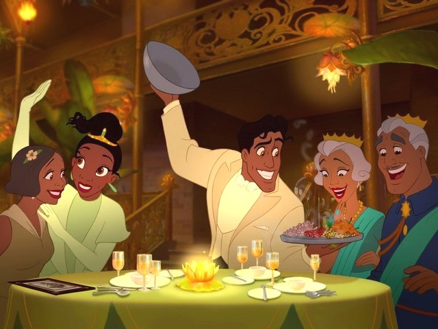 Prince Naveen and Tiana at Own Restaurant Princess and the Frog - Prince Naveen and Tiana with theirs parents, during the gala opening of the own restaurant, in the American animated musical film 'The Princess and the Frog', produced by Walt Disney Animation Studios (2009). - , prince, princes, Naveen, Tiana, own, restaurant, restaurants, princess, princesses, frog, frogs, cartoons, cartoon, film, films, movie, movies, parents, parent, gala, opening, openings, American, animated, musical, musicals, Walt, Disney, Animation, Studios, studio, 2009 - Prince Naveen and Tiana with theirs parents, during the gala opening of the own restaurant, in the American animated musical film 'The Princess and the Frog', produced by Walt Disney Animation Studios (2009). Solve free online Prince Naveen and Tiana at Own Restaurant Princess and the Frog puzzle games or send Prince Naveen and Tiana at Own Restaurant Princess and the Frog puzzle game greeting ecards  from puzzles-games.eu.. Prince Naveen and Tiana at Own Restaurant Princess and the Frog puzzle, puzzles, puzzles games, puzzles-games.eu, puzzle games, online puzzle games, free puzzle games, free online puzzle games, Prince Naveen and Tiana at Own Restaurant Princess and the Frog free puzzle game, Prince Naveen and Tiana at Own Restaurant Princess and the Frog online puzzle game, jigsaw puzzles, Prince Naveen and Tiana at Own Restaurant Princess and the Frog jigsaw puzzle, jigsaw puzzle games, jigsaw puzzles games, Prince Naveen and Tiana at Own Restaurant Princess and the Frog puzzle game ecard, puzzles games ecards, Prince Naveen and Tiana at Own Restaurant Princess and the Frog puzzle game greeting ecard