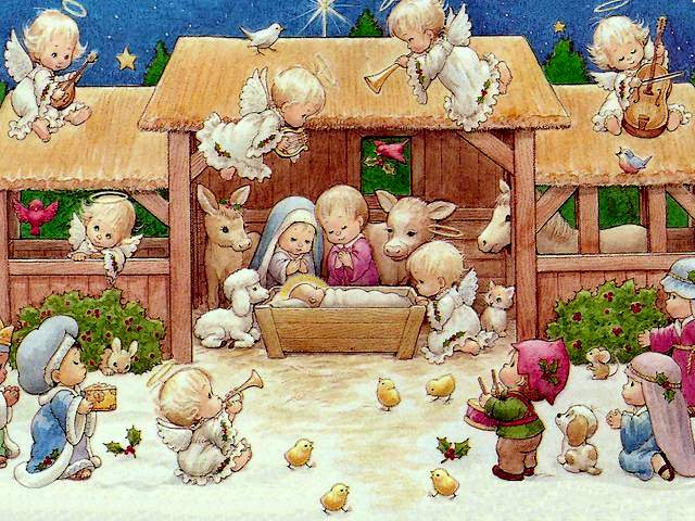 Ruth Morehead The Nativity Scene Christmas Card Puzzlesgameseu