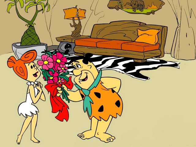 Valentines Day Flintstones Wallpaper - Wallpaper for Valentine's Day with Fred and his wife Wilma in the Stone Age town of Bedrock, from the 'The Flintstones', an American animated television sitcom (1960-1966), produced by Hanna-Barbera Productions. - , Valentines, Day, days, Flintstones, wallpaper, wallpapers, cartoons, cartoon, holidays, holiday, festival, festivals, celebrations, celebration, Valentine, Fred, wife, wifes, Wilma, stone, age, town, towns, Bedrock, American, animated, television, sitcom, sitcoms, 1960, 1966, Hanna-Barbera, Productions, production - Wallpaper for Valentine's Day with Fred and his wife Wilma in the Stone Age town of Bedrock, from the 'The Flintstones', an American animated television sitcom (1960-1966), produced by Hanna-Barbera Productions. Solve free online Valentines Day Flintstones Wallpaper puzzle games or send Valentines Day Flintstones Wallpaper puzzle game greeting ecards  from puzzles-games.eu.. Valentines Day Flintstones Wallpaper puzzle, puzzles, puzzles games, puzzles-games.eu, puzzle games, online puzzle games, free puzzle games, free online puzzle games, Valentines Day Flintstones Wallpaper free puzzle game, Valentines Day Flintstones Wallpaper online puzzle game, jigsaw puzzles, Valentines Day Flintstones Wallpaper jigsaw puzzle, jigsaw puzzle games, jigsaw puzzles games, Valentines Day Flintstones Wallpaper puzzle game ecard, puzzles games ecards, Valentines Day Flintstones Wallpaper puzzle game greeting ecard