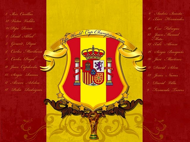 World Cup 2010 Champion Spanish Flag Wallpaper Puzzles Gameseu