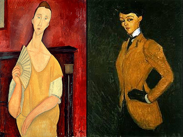 Amadeo Modigliani Lady with Fan and Woman in Yellow Jacket - 'Lady with Fan' (1919, 'Woman with a Fan Lunia Czechowska', oil on canvas) and 'Woman in Yellow Jacket' ('The Amazon', 1909, private collection), paintings made by one of the most popular artists of the 20th century Amadeo Modigliani. The 'Lady with Fan' ('La femme a l'eventail') has been stolen overnight on May 19, 2010 from the permanent collection of The Museum of Modern Art in Paris, France together with another four well known masterpieces of Pablo Picasso, Henri Matisse, Georges Braque and Fernand Leger. 'The Amazon' is  the first paid portrait bought by Dr. Alexandre. - , Amadeo, Modigliani, Lady, ladies, Fan, fans, Woman, women, Yellow, Jacket, art, arts, painter, painters, artist, artists, sculptor, sculptors, Expressionist, Expressionists, 1919, Lunia, Czechowska, oil, on, canvas, 1909, private, collection, collections, paintings, painting, most, popular, 20th, century, centuries, overnight, May, 2010, permanent, Museum, museums, Modern, Paris, France, well, known, masterpieces, masterpiece, Pablo, Picasso, Henri, Matisse, Georges, Braque, Fernand, Leger, first, paid, portrait, portraits, Dr.Alexandre - 'Lady with Fan' (1919, 'Woman with a Fan Lunia Czechowska', oil on canvas) and 'Woman in Yellow Jacket' ('The Amazon', 1909, private collection), paintings made by one of the most popular artists of the 20th century Amadeo Modigliani. The 'Lady with Fan' ('La femme a l'eventail') has been stolen overnight on May 19, 2010 from the permanent collection of The Museum of Modern Art in Paris, France together with another four well known masterpieces of Pablo Picasso, Henri Matisse, Georges Braque and Fernand Leger. 'The Amazon' is  the first paid portrait bought by Dr. Alexandre. Solve free online Amadeo Modigliani Lady with Fan and Woman in Yellow Jacket puzzle games or send Amadeo Modigliani Lady with Fan and Woman in Yellow Jacket puzzle game greeting ecards  from puzzles-games.eu.. Amadeo Modigliani Lady with Fan and Woman in Yellow Jacket puzzle, puzzles, puzzles games, puzzles-games.eu, puzzle games, online puzzle games, free puzzle games, free online puzzle games, Amadeo Modigliani Lady with Fan and Woman in Yellow Jacket free puzzle game, Amadeo Modigliani Lady with Fan and Woman in Yellow Jacket online puzzle game, jigsaw puzzles, Amadeo Modigliani Lady with Fan and Woman in Yellow Jacket jigsaw puzzle, jigsaw puzzle games, jigsaw puzzles games, Amadeo Modigliani Lady with Fan and Woman in Yellow Jacket puzzle game ecard, puzzles games ecards, Amadeo Modigliani Lady with Fan and Woman in Yellow Jacket puzzle game greeting ecard