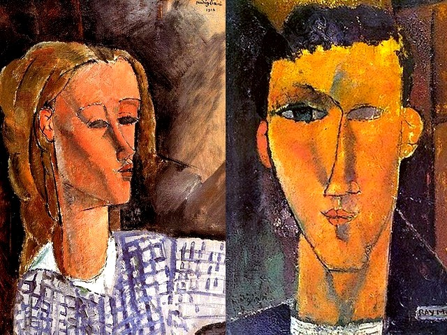Amadeo Modigliani Portrait of Beatrice Hastings and Portrait of Raymond Radiguet - Two works by Amadeo Modigliani - 'Portrait of Beatrice Hastings' (1916, oil on canvas, private collection), a talented and eccentric English woman, a circus artist, journalist, poetess, traveler, art critic, mistress and a preferred model of Modigliani, and 'Portrait of Raymond Radiguet' (1915, oil on canvas, private collection), a French author (1903-1923) associated with the Modernist set, friend of Picasso, Max Jacob, Jean Hugo, Juan Gris and especially of Jean Cocteau, who became his mentor. - , Amadeo, Modigliani, portrait, portraits, Beatrice, Hastings, Raymond, Radiguet, art, arts, painter, painters, artist, artists, sculptor, sculptors, Expressionist, Expressionists, works, work, 1916, oil, canvas, canvases, private, collection, collections, talented, eccentric, English, woman, women, circus, journalist, journalists, poetess, poets, traveler, travelers, critic, critics, mistress, mistresses, preferred, model, models, 1915, French, author, autors, Modernist, set, sets, friend, friends, Picasso, Max, Jacob, Jean, Hugo, Juan, Gris, especially, Cocteau, mentor, mentors - Two works by Amadeo Modigliani - 'Portrait of Beatrice Hastings' (1916, oil on canvas, private collection), a talented and eccentric English woman, a circus artist, journalist, poetess, traveler, art critic, mistress and a preferred model of Modigliani, and 'Portrait of Raymond Radiguet' (1915, oil on canvas, private collection), a French author (1903-1923) associated with the Modernist set, friend of Picasso, Max Jacob, Jean Hugo, Juan Gris and especially of Jean Cocteau, who became his mentor. Подреждайте безплатни онлайн Amadeo Modigliani Portrait of Beatrice Hastings and Portrait of Raymond Radiguet пъзел игри или изпратете Amadeo Modigliani Portrait of Beatrice Hastings and Portrait of Raymond Radiguet пъзел игра поздравителна картичка  от puzzles-games.eu.. Amadeo Modigliani Portrait of Beatrice Hastings and Portrait of Raymond Radiguet пъзел, пъзели, пъзели игри, puzzles-games.eu, пъзел игри, online пъзел игри, free пъзел игри, free online пъзел игри, Amadeo Modigliani Portrait of Beatrice Hastings and Portrait of Raymond Radiguet free пъзел игра, Amadeo Modigliani Portrait of Beatrice Hastings and Portrait of Raymond Radiguet online пъзел игра, jigsaw puzzles, Amadeo Modigliani Portrait of Beatrice Hastings and Portrait of Raymond Radiguet jigsaw puzzle, jigsaw puzzle games, jigsaw puzzles games, Amadeo Modigliani Portrait of Beatrice Hastings and Portrait of Raymond Radiguet пъзел игра картичка, пъзели игри картички, Amadeo Modigliani Portrait of Beatrice Hastings and Portrait of Raymond Radiguet пъзел игра поздравителна картичка