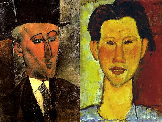 Amadeo Modigliani Portrait of Max Jacob and Portrait of Chaim Soutine - 'Portrait of Max Jacob' (1916, oil on canvas, Art Academy, North Rhine-Westphalia, Dusseldorf, Germany), a French poet, painter, writer, and critic (1876-1944), a painting by the bohemian artist and posthumous legend Amadeo Modigliani, influenced by the geometric style of Cubism. From the series of portraits of contemporary artists and Modigliani's friends in Montparnasse is the 'Portrait of Chaim Soutine' (1915, oil on board, National Gallery, Stuttgart, Germany), a Jewish painter expressionist from Belarus, forerunner of Abstract Expressionism and  proponent of European style of Rembrandt, Chardin, and Courbet. - , Amadeo, Modigliani, portrait, portraits, Max, Jacob, Chaim, Soutine, art, arts, painter, painters, artist, artists, sculptor, sculptors, Expressionist, Expressionists, 1916, oil, canvas, Academy, North, Rhine-Westphalia, Dusseldorf, Germany, French, poet, poets, writer, writers, critic, critics, 1876-1944, painting, paintings, bohemian, posthumous, legend, legends, geometric, style, styles, Cubism, series, serie, contemporary, friends, friend, Montparnasse, 1915, board, boards, National, Gallery, galleries, Stuttgart, Jewish, Belarus, forerunner, forerunners, abstract, proponent, proponents, European, style, styles, Rembrandt, Chardin, Courbet - 'Portrait of Max Jacob' (1916, oil on canvas, Art Academy, North Rhine-Westphalia, Dusseldorf, Germany), a French poet, painter, writer, and critic (1876-1944), a painting by the bohemian artist and posthumous legend Amadeo Modigliani, influenced by the geometric style of Cubism. From the series of portraits of contemporary artists and Modigliani's friends in Montparnasse is the 'Portrait of Chaim Soutine' (1915, oil on board, National Gallery, Stuttgart, Germany), a Jewish painter expressionist from Belarus, forerunner of Abstract Expressionism and  proponent of European style of Rembrandt, Chardin, and Courbet. Solve free online Amadeo Modigliani Portrait of Max Jacob and Portrait of Chaim Soutine puzzle games or send Amadeo Modigliani Portrait of Max Jacob and Portrait of Chaim Soutine puzzle game greeting ecards  from puzzles-games.eu.. Amadeo Modigliani Portrait of Max Jacob and Portrait of Chaim Soutine puzzle, puzzles, puzzles games, puzzles-games.eu, puzzle games, online puzzle games, free puzzle games, free online puzzle games, Amadeo Modigliani Portrait of Max Jacob and Portrait of Chaim Soutine free puzzle game, Amadeo Modigliani Portrait of Max Jacob and Portrait of Chaim Soutine online puzzle game, jigsaw puzzles, Amadeo Modigliani Portrait of Max Jacob and Portrait of Chaim Soutine jigsaw puzzle, jigsaw puzzle games, jigsaw puzzles games, Amadeo Modigliani Portrait of Max Jacob and Portrait of Chaim Soutine puzzle game ecard, puzzles games ecards, Amadeo Modigliani Portrait of Max Jacob and Portrait of Chaim Soutine puzzle game greeting ecard