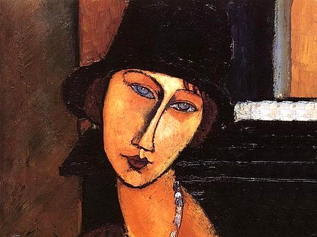 Amedeo Modigliani Jeanne Hebuterne Au Chapeau - A fragment from the portrait of 'Jeanne Hebuterne (Au Chapeau)', (1917, painting oil on panel, known as 'Jeanne Hebuterne with Hat and Necklace' or 'Jeanne Ha Cloche'), one of the first portraits Amedeo Modigliani has painted of his lover, the woman whose image has defined his art. - , Amedeo, Modigliani, Jeanne, Hebuterne, AuChapeau, art, arts, painter, painters, artist, artists, sculptor, sculptors, Expressionist, Expressionists, fragment, fragments, portrait, portraits, 1917, painting, paintings, oil, panel, panels, hat, hats, necklace, necklaces, HaCloche, first, lover, lovers, woman, women, image, images - A fragment from the portrait of 'Jeanne Hebuterne (Au Chapeau)', (1917, painting oil on panel, known as 'Jeanne Hebuterne with Hat and Necklace' or 'Jeanne Ha Cloche'), one of the first portraits Amedeo Modigliani has painted of his lover, the woman whose image has defined his art. Подреждайте безплатни онлайн Amedeo Modigliani Jeanne Hebuterne Au Chapeau пъзел игри или изпратете Amedeo Modigliani Jeanne Hebuterne Au Chapeau пъзел игра поздравителна картичка  от puzzles-games.eu.. Amedeo Modigliani Jeanne Hebuterne Au Chapeau пъзел, пъзели, пъзели игри, puzzles-games.eu, пъзел игри, online пъзел игри, free пъзел игри, free online пъзел игри, Amedeo Modigliani Jeanne Hebuterne Au Chapeau free пъзел игра, Amedeo Modigliani Jeanne Hebuterne Au Chapeau online пъзел игра, jigsaw puzzles, Amedeo Modigliani Jeanne Hebuterne Au Chapeau jigsaw puzzle, jigsaw puzzle games, jigsaw puzzles games, Amedeo Modigliani Jeanne Hebuterne Au Chapeau пъзел игра картичка, пъзели игри картички, Amedeo Modigliani Jeanne Hebuterne Au Chapeau пъзел игра поздравителна картичка
