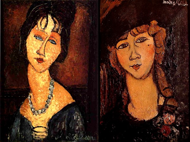 Amedeo Modigliani Jeanne Hebuterne with Necklace and Head of a Woman in a Hat - 'Jeanne Hebuterne with Necklace' (1917), a portrait by Amedeo Modigliani of his wife, a gentle, shy, quiet and delicate woman and a major model until his death, painted no less than 25 times. The painting 'Head of a Woman in a Hat' ('Renae the Blonde', Museum of Contemporary Art, Sao Paulo, Brazil) was drawn with a very sure hand in 1916 and with no corrections of the lines only with a few outlines. - , Amedeo, Modigliani, Jeanne, Hebuterne, necklace, necklaces, head, heads, woman, women, hat, hats, art, arts, painter, painters, artist, artists, sculptor, sculptors, Expressionist, Expressionists, 1917, portrait, portraits, wife, wifes, gentle, shy, quiet, delicate, major, model, models, death, times, time, painting, paintings, Renae, blonde, Museum, museums, Contemporary, Sao, Paulo, Brazil, sure, hand, hands, 1916, corrections, correction, lines, line, outlines, outline - 'Jeanne Hebuterne with Necklace' (1917), a portrait by Amedeo Modigliani of his wife, a gentle, shy, quiet and delicate woman and a major model until his death, painted no less than 25 times. The painting 'Head of a Woman in a Hat' ('Renae the Blonde', Museum of Contemporary Art, Sao Paulo, Brazil) was drawn with a very sure hand in 1916 and with no corrections of the lines only with a few outlines. Solve free online Amedeo Modigliani Jeanne Hebuterne with Necklace and Head of a Woman in a Hat puzzle games or send Amedeo Modigliani Jeanne Hebuterne with Necklace and Head of a Woman in a Hat puzzle game greeting ecards  from puzzles-games.eu.. Amedeo Modigliani Jeanne Hebuterne with Necklace and Head of a Woman in a Hat puzzle, puzzles, puzzles games, puzzles-games.eu, puzzle games, online puzzle games, free puzzle games, free online puzzle games, Amedeo Modigliani Jeanne Hebuterne with Necklace and Head of a Woman in a Hat free puzzle game, Amedeo Modigliani Jeanne Hebuterne with Necklace and Head of a Woman in a Hat online puzzle game, jigsaw puzzles, Amedeo Modigliani Jeanne Hebuterne with Necklace and Head of a Woman in a Hat jigsaw puzzle, jigsaw puzzle games, jigsaw puzzles games, Amedeo Modigliani Jeanne Hebuterne with Necklace and Head of a Woman in a Hat puzzle game ecard, puzzles games ecards, Amedeo Modigliani Jeanne Hebuterne with Necklace and Head of a Woman in a Hat puzzle game greeting ecard