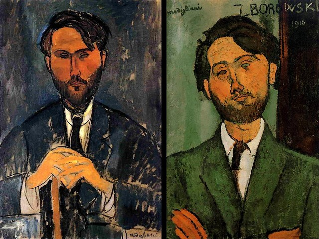 Amedeo Modigliani Leopold Zborowski with Cane and Portrait of Leopold Zborowski - Portraits painted by Amedeo Modigliani in 1916 - 'Leopold Zborowski with Cane' (aka Portrait of Zborowski with Yellow Hands) and 'Portrait of Leopold Zborowski' . Leopold Zborowski was Polish poet, writer and art dealer (1889-1932) as well as a friend of Amedeo Modigliani, who organized the expositions and allowed him to use his own house as an atelier during the artist's final years. - , Amedeo, Modigliani, Leopold, Zborowski, cane, canes, portrait, portraits, art, arts, painter, painters, artist, artists, sculptor, sculptors, Expressionist, Expressionists, Polish, poet, poets, writer, writers, art, dealer, dealers, 1889-1932, friend, friends, expositions, exposition, house, houses, atelier, ateliers, final, years, year - Portraits painted by Amedeo Modigliani in 1916 - 'Leopold Zborowski with Cane' (aka Portrait of Zborowski with Yellow Hands) and 'Portrait of Leopold Zborowski' . Leopold Zborowski was Polish poet, writer and art dealer (1889-1932) as well as a friend of Amedeo Modigliani, who organized the expositions and allowed him to use his own house as an atelier during the artist's final years. Solve free online Amedeo Modigliani Leopold Zborowski with Cane and Portrait of Leopold Zborowski puzzle games or send Amedeo Modigliani Leopold Zborowski with Cane and Portrait of Leopold Zborowski puzzle game greeting ecards  from puzzles-games.eu.. Amedeo Modigliani Leopold Zborowski with Cane and Portrait of Leopold Zborowski puzzle, puzzles, puzzles games, puzzles-games.eu, puzzle games, online puzzle games, free puzzle games, free online puzzle games, Amedeo Modigliani Leopold Zborowski with Cane and Portrait of Leopold Zborowski free puzzle game, Amedeo Modigliani Leopold Zborowski with Cane and Portrait of Leopold Zborowski online puzzle game, jigsaw puzzles, Amedeo Modigliani Leopold Zborowski with Cane and Portrait of Leopold Zborowski jigsaw puzzle, jigsaw puzzle games, jigsaw puzzles games, Amedeo Modigliani Leopold Zborowski with Cane and Portrait of Leopold Zborowski puzzle game ecard, puzzles games ecards, Amedeo Modigliani Leopold Zborowski with Cane and Portrait of Leopold Zborowski puzzle game greeting ecard