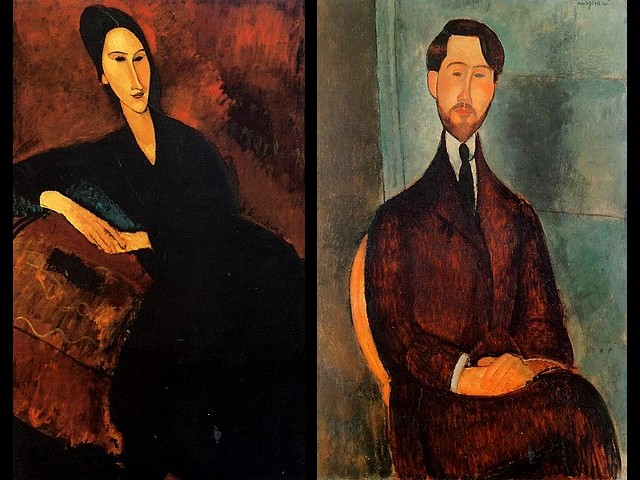 Amedeo Modigliani Madame Zborowska on a Sofa  and Leopold Zborowski - Paintings made by Amedeo Modigliani of the contemporaries of the Parisian artists and theirs art-dealers - 'Madame Zborowska on a sofa'(1917, oil on canvas, The Museum of Modern Art, New York) and 'Portrait of Leopold Zborowski' (1919, oil on canvas, The Metropolitan Museum of Art, New York). - , Amedeo, Modigliani, Madame, Zborowska, sofa, sofas, Leopold, Zborowski, art, arts, painter, painters, artist, artists, sculptor, sculptors, Expressionist, Expressionists, paintings, painting, contemporaries, contemporary, Parisian, artists, artist, art-dealers, art-dealer, (1917, oil, canvas, Museum, Modern, museums, New, York, Metropolitan - Paintings made by Amedeo Modigliani of the contemporaries of the Parisian artists and theirs art-dealers - 'Madame Zborowska on a sofa'(1917, oil on canvas, The Museum of Modern Art, New York) and 'Portrait of Leopold Zborowski' (1919, oil on canvas, The Metropolitan Museum of Art, New York). Solve free online Amedeo Modigliani Madame Zborowska on a Sofa  and Leopold Zborowski puzzle games or send Amedeo Modigliani Madame Zborowska on a Sofa  and Leopold Zborowski puzzle game greeting ecards  from puzzles-games.eu.. Amedeo Modigliani Madame Zborowska on a Sofa  and Leopold Zborowski puzzle, puzzles, puzzles games, puzzles-games.eu, puzzle games, online puzzle games, free puzzle games, free online puzzle games, Amedeo Modigliani Madame Zborowska on a Sofa  and Leopold Zborowski free puzzle game, Amedeo Modigliani Madame Zborowska on a Sofa  and Leopold Zborowski online puzzle game, jigsaw puzzles, Amedeo Modigliani Madame Zborowska on a Sofa  and Leopold Zborowski jigsaw puzzle, jigsaw puzzle games, jigsaw puzzles games, Amedeo Modigliani Madame Zborowska on a Sofa  and Leopold Zborowski puzzle game ecard, puzzles games ecards, Amedeo Modigliani Madame Zborowska on a Sofa  and Leopold Zborowski puzzle game greeting ecard