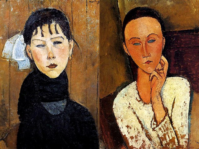 Amedeo Modigliani Marie and Lunia Czechowska Left Hand on her Cheek - Portraits of 'Marie' (1918, Kunstmuseum Basel, Switzerland), known as 'Marie, fille du peuple - La Petite Marie' ('Mary, daughter of the people - Little Marie') and 'Lunia Czechowska Left Hand on her Cheek' (1918, painting oil on board laid down on cradled panel, private collection), made by the Italian painter and sculptor Amedeo Modigliani (1884-1920). - , Amedeo, Modigliani, Marie, Lunia, Czechowska, left, hand, hands, cheek, cheeks, art, arts, painter, painters, artist, artists, sculptor, sculptors, Expressionist, Expressionists, portraits, portrait, 1918, Kunstmuseum, Basel, Switzerland, daughter, daughters, people, little, 1918, painting, paintings, oil, board, boards, cradled, panel, panels, private, collection, collections, Italian, 1884-1920 - Portraits of 'Marie' (1918, Kunstmuseum Basel, Switzerland), known as 'Marie, fille du peuple - La Petite Marie' ('Mary, daughter of the people - Little Marie') and 'Lunia Czechowska Left Hand on her Cheek' (1918, painting oil on board laid down on cradled panel, private collection), made by the Italian painter and sculptor Amedeo Modigliani (1884-1920). Solve free online Amedeo Modigliani Marie and Lunia Czechowska Left Hand on her Cheek puzzle games or send Amedeo Modigliani Marie and Lunia Czechowska Left Hand on her Cheek puzzle game greeting ecards  from puzzles-games.eu.. Amedeo Modigliani Marie and Lunia Czechowska Left Hand on her Cheek puzzle, puzzles, puzzles games, puzzles-games.eu, puzzle games, online puzzle games, free puzzle games, free online puzzle games, Amedeo Modigliani Marie and Lunia Czechowska Left Hand on her Cheek free puzzle game, Amedeo Modigliani Marie and Lunia Czechowska Left Hand on her Cheek online puzzle game, jigsaw puzzles, Amedeo Modigliani Marie and Lunia Czechowska Left Hand on her Cheek jigsaw puzzle, jigsaw puzzle games, jigsaw puzzles games, Amedeo Modigliani Marie and Lunia Czechowska Left Hand on her Cheek puzzle game ecard, puzzles games ecards, Amedeo Modigliani Marie and Lunia Czechowska Left Hand on her Cheek puzzle game greeting ecard