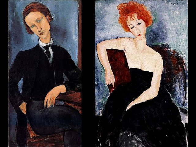 Amedeo Modigliani Pierre Edouard Baranowski and Young Redhead in an Evening Dress - Portraits painted by Amedeo Modigliani of 'Pierre Edouard Baranowski'(1918, artist - Bara) and of a female model 'Young redhead in an Evening Dress' (1918, oil on canvas, Barnes Foundation, Merion, Pennsylvania), in his favourite coppery red tones and soft contours. - , Amedeo, Modigliani, Pierre, Edouard, Baranowski, young, redhead, evening, dress, dresses, art, arts, painter, painters, artist, artists, sculptor, sculptors, Expressionist, Expressionists, portraits, portrait, Bara, female, model, models, 1918, oil, canvas, Barnes, Foundation, Merion, Pennsylvania, favourite, coppery, red, tones, tone, soft, contours, contour - Portraits painted by Amedeo Modigliani of 'Pierre Edouard Baranowski'(1918, artist - Bara) and of a female model 'Young redhead in an Evening Dress' (1918, oil on canvas, Barnes Foundation, Merion, Pennsylvania), in his favourite coppery red tones and soft contours. Solve free online Amedeo Modigliani Pierre Edouard Baranowski and Young Redhead in an Evening Dress puzzle games or send Amedeo Modigliani Pierre Edouard Baranowski and Young Redhead in an Evening Dress puzzle game greeting ecards  from puzzles-games.eu.. Amedeo Modigliani Pierre Edouard Baranowski and Young Redhead in an Evening Dress puzzle, puzzles, puzzles games, puzzles-games.eu, puzzle games, online puzzle games, free puzzle games, free online puzzle games, Amedeo Modigliani Pierre Edouard Baranowski and Young Redhead in an Evening Dress free puzzle game, Amedeo Modigliani Pierre Edouard Baranowski and Young Redhead in an Evening Dress online puzzle game, jigsaw puzzles, Amedeo Modigliani Pierre Edouard Baranowski and Young Redhead in an Evening Dress jigsaw puzzle, jigsaw puzzle games, jigsaw puzzles games, Amedeo Modigliani Pierre Edouard Baranowski and Young Redhead in an Evening Dress puzzle game ecard, puzzles games ecards, Amedeo Modigliani Pierre Edouard Baranowski and Young Redhead in an Evening Dress puzzle game greeting ecard
