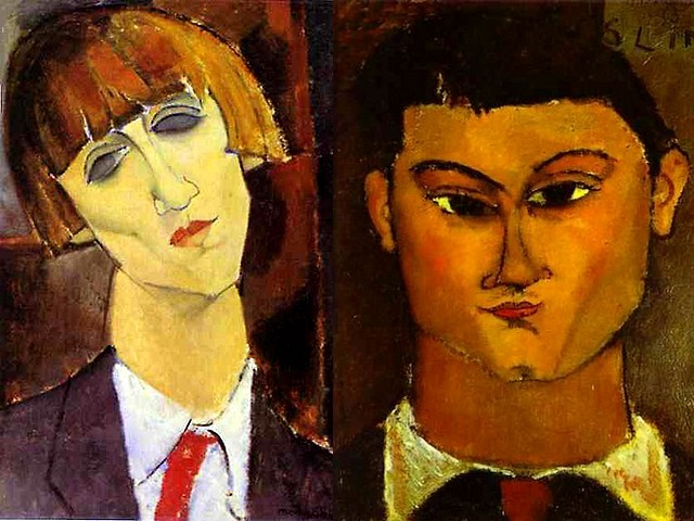 Amedeo Modigliani Portrait of Madame Kisling and Portrait of the Painter Moise Kisling - Two famous masterworks of Amedeo Modigliani - 'Portrait of Madame Kisling' (ca 1917, oil on canvas, The National Gallery of Art, Washington, DC, USA), Renee Kisling, known as Renee Gros (1896-1960) a wife of Moise Kisling and 'Portrait of the Painter Moise Kisling' (1915-1916, oil on canvas, Brera Art Gallery, Milan, Italy), a Polish painter (1891-1953), Molidigliani's neighbor in Montparnasse and part of the artistic community, a master at depiction of the female body and portraits. - , Amedeo, Modigliani, portrait, portraits, Madame, Kisling, Moise, Kisling, art, arts, painter, painters, artist, artists, sculptor, sculptors, Expressionist, Expressionists, famous, masterworks, masterwork, 1917, oil, canvas, National, Gallery, Washington, USA, Renee, Gros, 1896-1960, wife, wifes, 1915-1916, Brera, Art, Gallery, Milan, Italy, Polish, 1891-1953, neighbor, neighbors, Montparnasse, part, parts, artistic, community, communities, master, masters, depiction, depictions, female, body, bodies - Two famous masterworks of Amedeo Modigliani - 'Portrait of Madame Kisling' (ca 1917, oil on canvas, The National Gallery of Art, Washington, DC, USA), Renee Kisling, known as Renee Gros (1896-1960) a wife of Moise Kisling and 'Portrait of the Painter Moise Kisling' (1915-1916, oil on canvas, Brera Art Gallery, Milan, Italy), a Polish painter (1891-1953), Molidigliani's neighbor in Montparnasse and part of the artistic community, a master at depiction of the female body and portraits. Solve free online Amedeo Modigliani Portrait of Madame Kisling and Portrait of the Painter Moise Kisling puzzle games or send Amedeo Modigliani Portrait of Madame Kisling and Portrait of the Painter Moise Kisling puzzle game greeting ecards  from puzzles-games.eu.. Amedeo Modigliani Portrait of Madame Kisling and Portrait of the Painter Moise Kisling puzzle, puzzles, puzzles games, puzzles-games.eu, puzzle games, online puzzle games, free puzzle games, free online puzzle games, Amedeo Modigliani Portrait of Madame Kisling and Portrait of the Painter Moise Kisling free puzzle game, Amedeo Modigliani Portrait of Madame Kisling and Portrait of the Painter Moise Kisling online puzzle game, jigsaw puzzles, Amedeo Modigliani Portrait of Madame Kisling and Portrait of the Painter Moise Kisling jigsaw puzzle, jigsaw puzzle games, jigsaw puzzles games, Amedeo Modigliani Portrait of Madame Kisling and Portrait of the Painter Moise Kisling puzzle game ecard, puzzles games ecards, Amedeo Modigliani Portrait of Madame Kisling and Portrait of the Painter Moise Kisling puzzle game greeting ecard