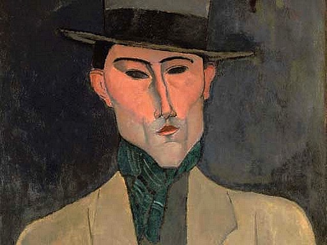 Amedeo Modigliani Portrait of a Man with Hat - A fragment from the 'Portrait of a Man with Hat', painted by Amedeo Modigliani (1915, oil on canvas, private collection) of Jose Pacheco (1885-1934), a Portuguese painter who has worked in Paris in the beginning of 1910s. On February 6th, 2007, the painting was sold by Christie's auction house in London for $7,726,340. - , Amedeo, Modigliani, portrait, portraits, man, men, hat, hats, art, arts, painter, painters, artist, artists, sculptor, sculptors, Expressionist, Expressionists, fragment, fragments, 1915, oil, canvas, canvases, private, collection, collections, 1885-1934, Portuguese, Paris, beginning, 1910, February, 2007, painting, paintings, Christie's, auction, house, houses, London, $7, 726, 340 - A fragment from the 'Portrait of a Man with Hat', painted by Amedeo Modigliani (1915, oil on canvas, private collection) of Jose Pacheco (1885-1934), a Portuguese painter who has worked in Paris in the beginning of 1910s. On February 6th, 2007, the painting was sold by Christie's auction house in London for $7,726,340. Solve free online Amedeo Modigliani Portrait of a Man with Hat puzzle games or send Amedeo Modigliani Portrait of a Man with Hat puzzle game greeting ecards  from puzzles-games.eu.. Amedeo Modigliani Portrait of a Man with Hat puzzle, puzzles, puzzles games, puzzles-games.eu, puzzle games, online puzzle games, free puzzle games, free online puzzle games, Amedeo Modigliani Portrait of a Man with Hat free puzzle game, Amedeo Modigliani Portrait of a Man with Hat online puzzle game, jigsaw puzzles, Amedeo Modigliani Portrait of a Man with Hat jigsaw puzzle, jigsaw puzzle games, jigsaw puzzles games, Amedeo Modigliani Portrait of a Man with Hat puzzle game ecard, puzzles games ecards, Amedeo Modigliani Portrait of a Man with Hat puzzle game greeting ecard
