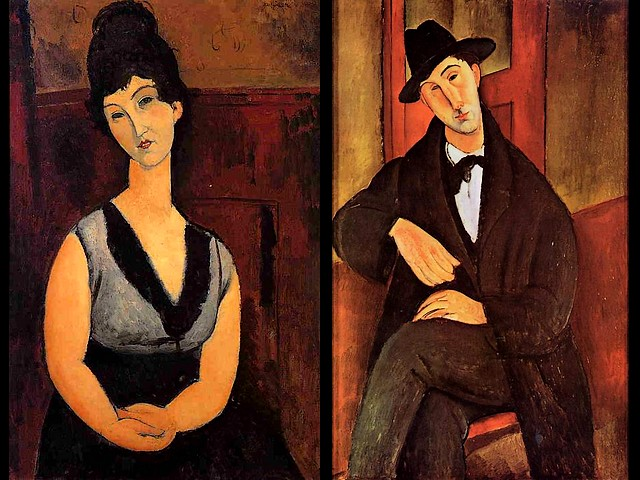 Amedeo Modigliani The Beautiful Confectioner and Portrait of Mario Varvogli - The painting of Modigliani 'The Beautiful Confectioner' (1916) and 'Portrait of Mario Varvogli' (a Greek musician), the famous masterpiece created by Amedeo Modigliani in 1919-1920 , oil on canvas, private collection. - , Amedeo, Modigliani, beautiful, confectioner, confectioners, portrait, portraits, Mario, Varvogliart, arts, painter, painters, artist, artists, sculptor, sculptors, Expressionist, Expressionists, 1916, Greek, musician, musicians, famous, masterpiece, masterpieces, 1919-1920, oil, canvas, private, collection, collections - The painting of Modigliani 'The Beautiful Confectioner' (1916) and 'Portrait of Mario Varvogli' (a Greek musician), the famous masterpiece created by Amedeo Modigliani in 1919-1920 , oil on canvas, private collection. Solve free online Amedeo Modigliani The Beautiful Confectioner and Portrait of Mario Varvogli puzzle games or send Amedeo Modigliani The Beautiful Confectioner and Portrait of Mario Varvogli puzzle game greeting ecards  from puzzles-games.eu.. Amedeo Modigliani The Beautiful Confectioner and Portrait of Mario Varvogli puzzle, puzzles, puzzles games, puzzles-games.eu, puzzle games, online puzzle games, free puzzle games, free online puzzle games, Amedeo Modigliani The Beautiful Confectioner and Portrait of Mario Varvogli free puzzle game, Amedeo Modigliani The Beautiful Confectioner and Portrait of Mario Varvogli online puzzle game, jigsaw puzzles, Amedeo Modigliani The Beautiful Confectioner and Portrait of Mario Varvogli jigsaw puzzle, jigsaw puzzle games, jigsaw puzzles games, Amedeo Modigliani The Beautiful Confectioner and Portrait of Mario Varvogli puzzle game ecard, puzzles games ecards, Amedeo Modigliani The Beautiful Confectioner and Portrait of Mario Varvogli puzzle game greeting ecard