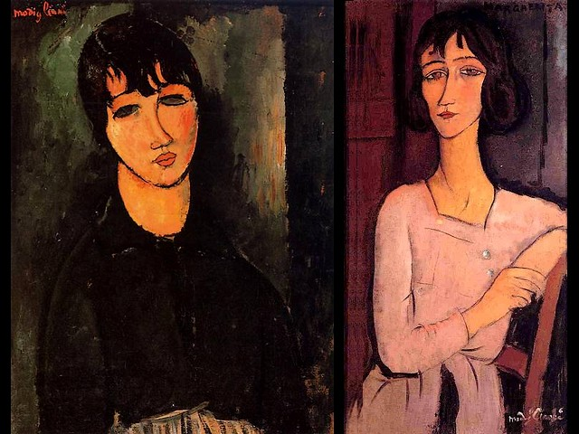 Amedeo Modigliani The Servant and Marguerite Seated - Paintings by the Italian artist Amedeo Modigliani (1884 - 1920) of quite different in nature people - 'The Servant' (1916, oil on canvas) and 'Marguerite Seated' ('Marguerite assise', 1916, oil on canvas), a portrait made by Modigliani from memory with a large dose of realism of his sister who, after the death of Jeanne Hebuterne has adopted their's daughter. - , Amedeo, Modigliani, servant, servants, Marguerite, seated, art, arts, painter, painters, artist, artists, sculptor, sculptors, Expressionist, Expressionists, paintings, painting, Italian, different, nature, natures, people, peoples, 1916, oil, canvas, private, collections, collection, portrait, portraits, memory, memories, large, dose, doses, realism, sister, sisters, Jeanne, Hebuterne, daughter, daughters - Paintings by the Italian artist Amedeo Modigliani (1884 - 1920) of quite different in nature people - 'The Servant' (1916, oil on canvas) and 'Marguerite Seated' ('Marguerite assise', 1916, oil on canvas), a portrait made by Modigliani from memory with a large dose of realism of his sister who, after the death of Jeanne Hebuterne has adopted their's daughter. Solve free online Amedeo Modigliani The Servant and Marguerite Seated puzzle games or send Amedeo Modigliani The Servant and Marguerite Seated puzzle game greeting ecards  from puzzles-games.eu.. Amedeo Modigliani The Servant and Marguerite Seated puzzle, puzzles, puzzles games, puzzles-games.eu, puzzle games, online puzzle games, free puzzle games, free online puzzle games, Amedeo Modigliani The Servant and Marguerite Seated free puzzle game, Amedeo Modigliani The Servant and Marguerite Seated online puzzle game, jigsaw puzzles, Amedeo Modigliani The Servant and Marguerite Seated jigsaw puzzle, jigsaw puzzle games, jigsaw puzzles games, Amedeo Modigliani The Servant and Marguerite Seated puzzle game ecard, puzzles games ecards, Amedeo Modigliani The Servant and Marguerite Seated puzzle game greeting ecard