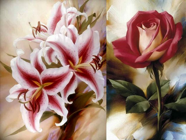 Artwork by Igor Levashov - Red-white Japanese lilies and a shy rose, artwork by Igor Levashov, an artist, born in Russia, with a passion for flowers, whose paintings attract the attention and are appreciated worldwide. - , artwork, artworks, Igor, Levashov, art, arts, flower, flowers, red, white, Japanese, lilies, lily, shy, rose, roses, artist, artists, Russia, passion, passions, paintings, painting, attention, attentions, worldwide - Red-white Japanese lilies and a shy rose, artwork by Igor Levashov, an artist, born in Russia, with a passion for flowers, whose paintings attract the attention and are appreciated worldwide. Solve free online Artwork by Igor Levashov puzzle games or send Artwork by Igor Levashov puzzle game greeting ecards  from puzzles-games.eu.. Artwork by Igor Levashov puzzle, puzzles, puzzles games, puzzles-games.eu, puzzle games, online puzzle games, free puzzle games, free online puzzle games, Artwork by Igor Levashov free puzzle game, Artwork by Igor Levashov online puzzle game, jigsaw puzzles, Artwork by Igor Levashov jigsaw puzzle, jigsaw puzzle games, jigsaw puzzles games, Artwork by Igor Levashov puzzle game ecard, puzzles games ecards, Artwork by Igor Levashov puzzle game greeting ecard
