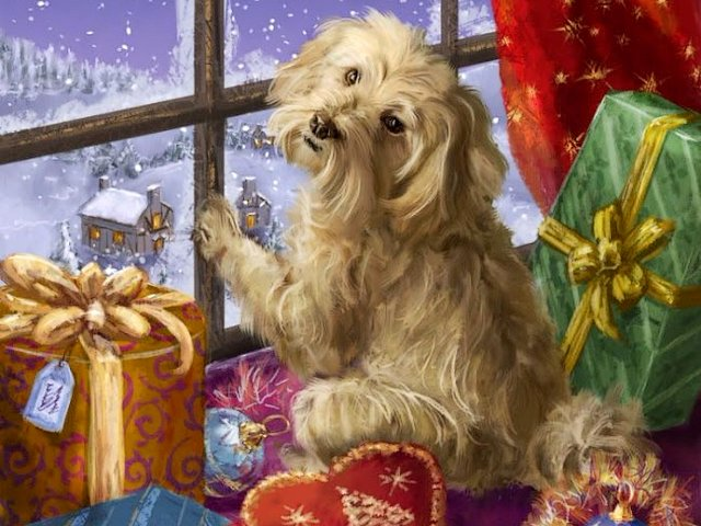 Awaiting Christmas by Marcello Corti - Beatiful illustration by the Italian artist Marcello Corti, with charming puppy sitting infront of window awaiting Christmas. Each painting by Marcello Corti has its own fabulous life, that return us for a moment to childhood. - , Awaiting, Christmas, Marcello, Corti, art, arts, holiday, holidays, beatiful, illustration, illustrations, Italian, artist, artists, charming, puppy, puppies, window, windows, painting, paintings, fabulous, life, childhood - Beatiful illustration by the Italian artist Marcello Corti, with charming puppy sitting infront of window awaiting Christmas. Each painting by Marcello Corti has its own fabulous life, that return us for a moment to childhood. Solve free online Awaiting Christmas by Marcello Corti puzzle games or send Awaiting Christmas by Marcello Corti puzzle game greeting ecards  from puzzles-games.eu.. Awaiting Christmas by Marcello Corti puzzle, puzzles, puzzles games, puzzles-games.eu, puzzle games, online puzzle games, free puzzle games, free online puzzle games, Awaiting Christmas by Marcello Corti free puzzle game, Awaiting Christmas by Marcello Corti online puzzle game, jigsaw puzzles, Awaiting Christmas by Marcello Corti jigsaw puzzle, jigsaw puzzle games, jigsaw puzzles games, Awaiting Christmas by Marcello Corti puzzle game ecard, puzzles games ecards, Awaiting Christmas by Marcello Corti puzzle game greeting ecard