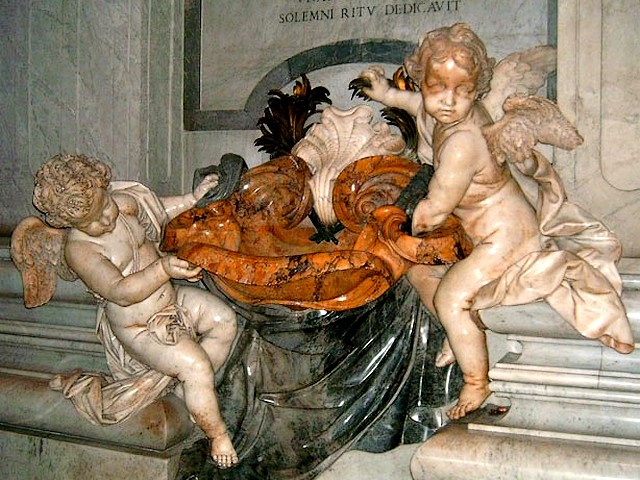 Baroque Cherubs Basilica Saint Peter Vatican Rome Italy - Baroque cherubs, the icons of cupids in the Catholic church, with a basin for fount of holy water for baptismal, located at the beginning of the central nave of the basilica 'Saint Peter' in Vatican, Rome, Italy. - , Baroque, cherubs, cherub, basilica, basilicas, Saint, Peter, Vatican, Rome, Italy, art, arts, places, place, holidays, holiday, travel, travels, tour, tours, trips, trip, excursion, excursions, icons, icon, cupids, cupid, basin, basins, fount, holy, water, waters, baptismal, beginning, central, nave, naves - Baroque cherubs, the icons of cupids in the Catholic church, with a basin for fount of holy water for baptismal, located at the beginning of the central nave of the basilica 'Saint Peter' in Vatican, Rome, Italy. Решайте бесплатные онлайн Baroque Cherubs Basilica Saint Peter Vatican Rome Italy пазлы игры или отправьте Baroque Cherubs Basilica Saint Peter Vatican Rome Italy пазл игру приветственную открытку  из puzzles-games.eu.. Baroque Cherubs Basilica Saint Peter Vatican Rome Italy пазл, пазлы, пазлы игры, puzzles-games.eu, пазл игры, онлайн пазл игры, игры пазлы бесплатно, бесплатно онлайн пазл игры, Baroque Cherubs Basilica Saint Peter Vatican Rome Italy бесплатно пазл игра, Baroque Cherubs Basilica Saint Peter Vatican Rome Italy онлайн пазл игра , jigsaw puzzles, Baroque Cherubs Basilica Saint Peter Vatican Rome Italy jigsaw puzzle, jigsaw puzzle games, jigsaw puzzles games, Baroque Cherubs Basilica Saint Peter Vatican Rome Italy пазл игра открытка, пазлы игры открытки, Baroque Cherubs Basilica Saint Peter Vatican Rome Italy пазл игра приветственная открытка