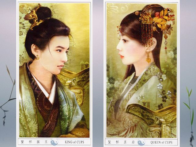 China Tarot King and Queen of Cups by Der Jen - 'King of Cups' and 'Queen of Cups', delicate images of young people from ancient China, dressed in luxurious robes and  hair styled in a traditional Chinese way with adornment of jewels, from the beautiful tarot deck with drawings by Taiwanese artist Der Jen (Dezhen). - , China, Tarot, King, kings, Queen, queens, Cups, cup, Der, Jen, art, arts, delicate, images, image, young, people, ancient, China, luxurious, robes, robe, hair, hairs, styled, traditional, Chinese, way, ways, adornment, adornments, jewels, jewel, beautiful, deck, decks, drawings, drawing, Taiwanese, artist, artists, Dezhen - 'King of Cups' and 'Queen of Cups', delicate images of young people from ancient China, dressed in luxurious robes and  hair styled in a traditional Chinese way with adornment of jewels, from the beautiful tarot deck with drawings by Taiwanese artist Der Jen (Dezhen). Resuelve rompecabezas en línea gratis China Tarot King and Queen of Cups by Der Jen juegos puzzle o enviar China Tarot King and Queen of Cups by Der Jen juego de puzzle tarjetas electrónicas de felicitación  de puzzles-games.eu.. China Tarot King and Queen of Cups by Der Jen puzzle, puzzles, rompecabezas juegos, puzzles-games.eu, juegos de puzzle, juegos en línea del rompecabezas, juegos gratis puzzle, juegos en línea gratis rompecabezas, China Tarot King and Queen of Cups by Der Jen juego de puzzle gratuito, China Tarot King and Queen of Cups by Der Jen juego de rompecabezas en línea, jigsaw puzzles, China Tarot King and Queen of Cups by Der Jen jigsaw puzzle, jigsaw puzzle games, jigsaw puzzles games, China Tarot King and Queen of Cups by Der Jen rompecabezas de juego tarjeta electrónica, juegos de puzzles tarjetas electrónicas, China Tarot King and Queen of Cups by Der Jen puzzle tarjeta electrónica de felicitación